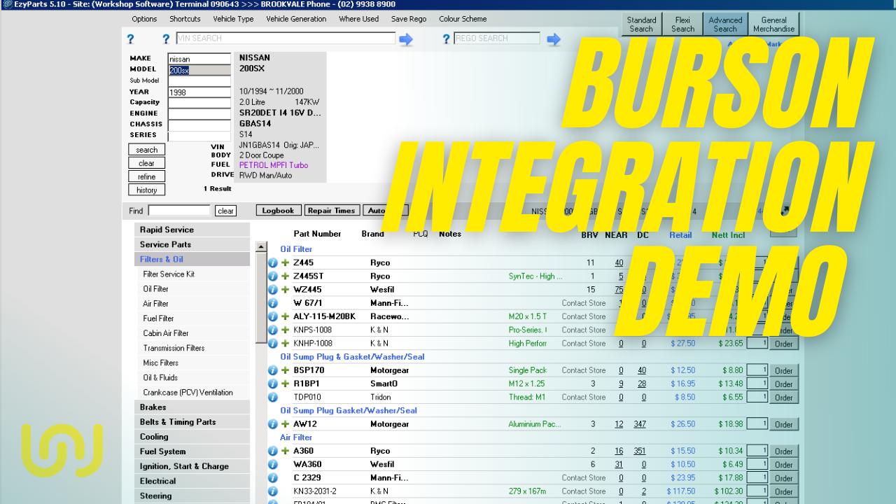 Burson integration with Workshop Software