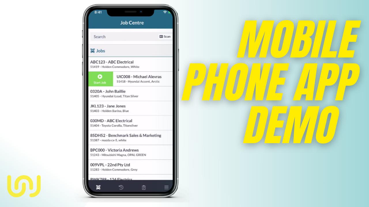 Workshop Software Mobile phone app