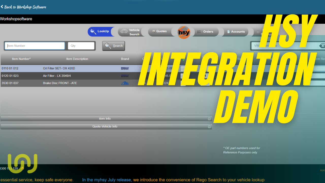 HSY Integration with work